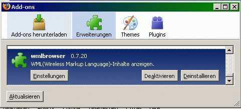 Firefox Adons verwaltung